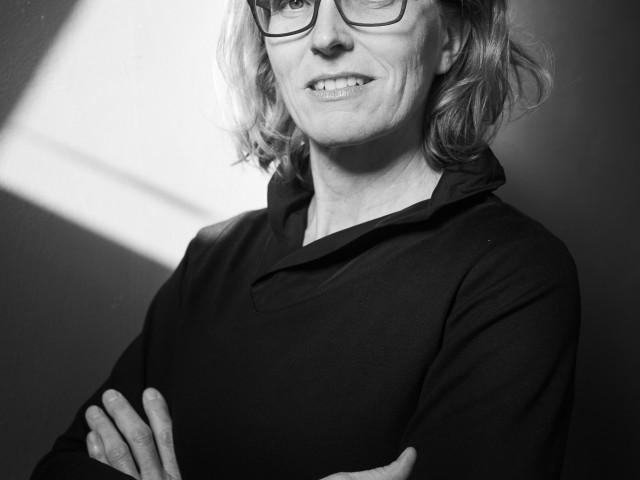 Angela Glajcar in ihrem Atelier – 2019